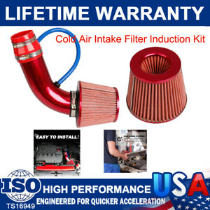 3'' Cold Air Intake Filter Induction Kits Pipe Power Hose System Car Accessories