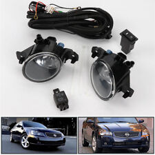 Clear W Switch Pair Front Bumper Fog Lights Lamp For Nissan Altima JDM 2005