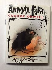 SIGNED Ralph Steadman ANIMAL FARM 1ST UK SIGNED FINE IN DJ