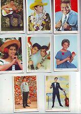 Lot 8 cartes vedettes portraits / de gum cards - années 60/70 bon etat