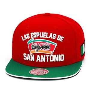 Mitchell & Ness San Antonio Spurs Snapback Cap Gorra Red/Green/White/Mexico Flag