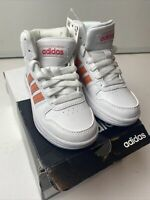 Adidas Hoops Mid 2.0 EE6708 Sneakers, Little Girl's Size 11k, White