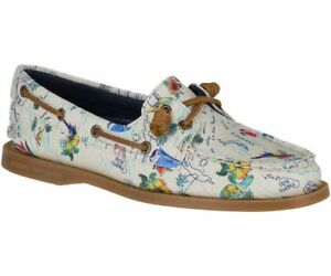 Sperry Women's Authentic Original Map Boat Shoes - Print Multi, MSRP $85