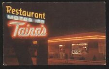 Postcard GALLUP New Mexico/NM ROUTE RT 66  Taira's Restaurant Nite view