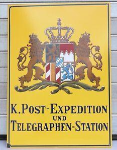 Email Schild K. Post-Expedition Telegraphen Station 500 Jahre Post