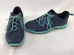 Bontrager Women's Blue/Green Cycle Sneakers Size 8.5 K1193
