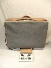 "HARTMANN 26"" Pullman Tweed Leather Mobile Traveler Luggage Extra Wheels"