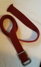 """American Eagle Retro Canvas Belt Red Double D Ring Buckle 46"""""""
