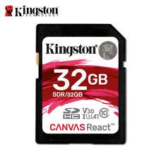 Kingston Canvas React 32 GB SDHC Tarjeta de Memoria UHS-1 U3 cámara video