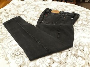 Women's Levi's 550 Relaxed Fit Tapered Leg Denim Jeans Size 7 Black Juniors