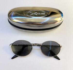 Bausch & Lomb Ray Ban W2539 Gunmetal Oval Sunglasses w new POLARIZED Grey Lenses