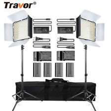 Travor 2PCS TL-600S LED Dimmable Video Light Studio Photography Lighting Kits AU