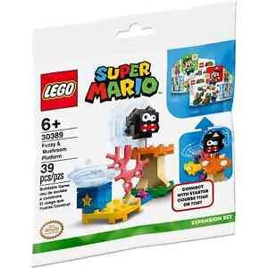 Lego Super Mario Super Fuzzy & Mushroom Platform 30389 Polybag BNIP