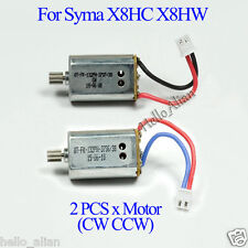 2PCS 7.4V Motor Engine + gear for Syma X8HC X8HW RC Drone Quadcopter Helicopter