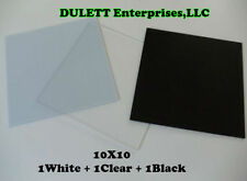 New listing 3 White, Black, Clear Acrylic Photo Photography Studio Reflection Display Boards