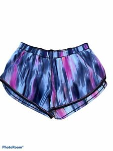 LULULEMON Run Roll Down Training Shorts Tie Dye Mirage Size 6