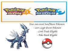 Pokemon Sun and Moon 2018 Legends Dialga Event Pokemon