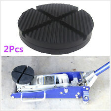 2Pcs Universal Cross Slotted Frame Rail Rubber Pad For Pinch Weld Side JACK PAD