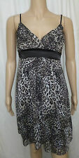 MISO size 8 - ladies animal print floaty dress - evening sleeveless party