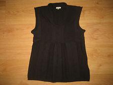 Women's Noa Noa Brown Sleeveless Scoop Neck Wool Blend Knit Top Size S UK 8