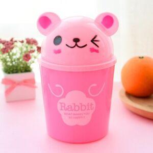 Cute Mini Cartoon Desktop Storage Bucket Home Toys Organizer Trash Bin Container