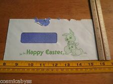 1980 Disneyland employees check mailing envelope Happy Easter rabbits art