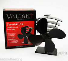 VALIANT PremiAir 4 Blade Heat Powered Stove Fan FIR361 - 420cfm LOW START TEMP!