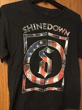 Shinedown  - North American Summer Tour 2013 Black Shirt.   L.