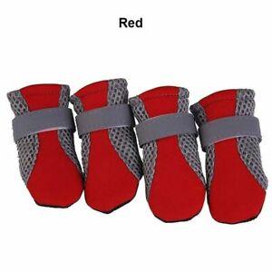 Anti-slip Dogs Shoes Winter Snow Rain Boots Pets Dog Cat Comfy Footwear 4pcs/set