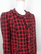 Express Design Studio Red Black Tweed Jacket Blazer Womens sz 12 Snap Front NWT