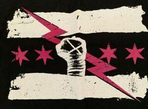 CM Punk Rise above Cancer T-Shirt Women's XL WWE NXT Best in the World GTS BITW