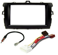 Autoradio Blende Adapter Kabel Set für Toyota Corolla E14 E15 Doppel-DIN schwarz