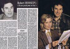 Coupure de presse Clipping 1981 Robert Hossein  (4 pages)