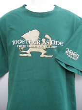 Adidas Notre Dame Football Together As One 2007 2 sided green T Shirt NWOT