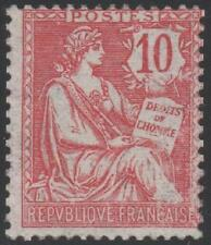 """FRANCE STAMP TIMBRE  N° 124 """" TYPE MOUCHON RETOUCHE 10c ROSE """" NEUF xx TB"""