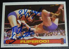 Iron Sheik Tito Santana Signed 1985 OPC WWF Card 42 PSA/DNA O-Pee-Chee Topps WWE