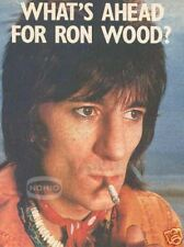 vintage RON WOOD magazine PINUP ROLLING STONES & FACES
