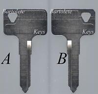 Replacement Key Blank Fits 1987 1988 1989 1990 1991 87 Kawasaki KLR 250 KLR250