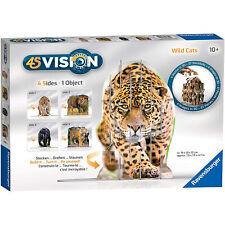 Puzzle 3D Ravensburger 4 Fotos Visión Wild Cats 37 Piezas 2749