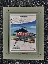 Medfield Junction Train Station Art Print MA railroad history freight passenger