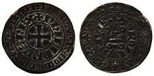 PHILIPPE IV LE BEL (1285-1314) Gros tournois à l'0 long et au lis (var. trident)