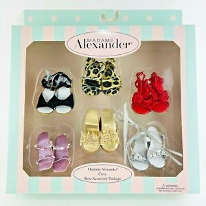 Madame Alexander Cissy Doll Shoe Accessory Package - New In Box - 6 Retro Pairs