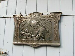 RELIEF J.Krill MADONNA 60cm Eisen Kunstguss Jugendstil Ikone Blansko Mähren 1900