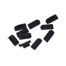 10pcs Black PC Laptop USB Plug Cover Stopper Rubber Soft Silicon Dust Cap E Jr