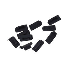 30pcs Black PC Laptop USB Plug Cover Stopper Rubber Soft Silicon Dust Cap ME