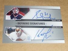 Grant Fuhr / Kirk McLean Autographs Defining Signatures CANADA / CANUCKS