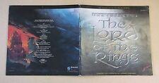 LEONARD ROSENMAN Lord Of The Rings UK vinyl 2-LP test pressing + proof sleeve
