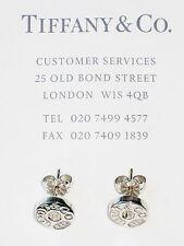 Tiffany & Co 1837 Sterling Silver Circle Stud Earrings