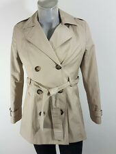 Debenhams Collection womens double breasted raincoat trench size 12