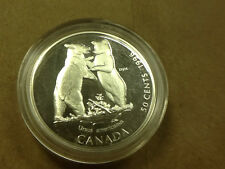 * Wild Ones 1996 Canada Canadian 50 Cent Piece Ursus Americanus Black Bear